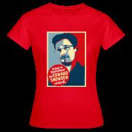 T-Shirts ~ Frauen T-Shirt ~ Schutz in Deutschland für EDWARD SNOWDEN