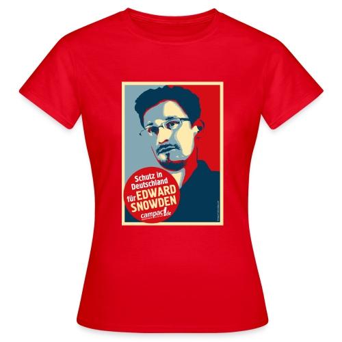 Schutz in Deutschland für EDWARD SNOWDEN - Frauen T-Shirt