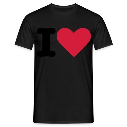 Tee- I Love - Männer T-Shirt