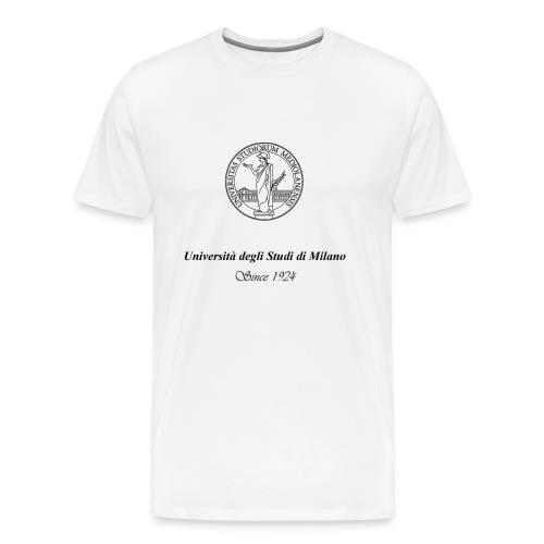 Maglietta Universita' degli Studi di Milano, bianca - Maglietta Premium da uomo