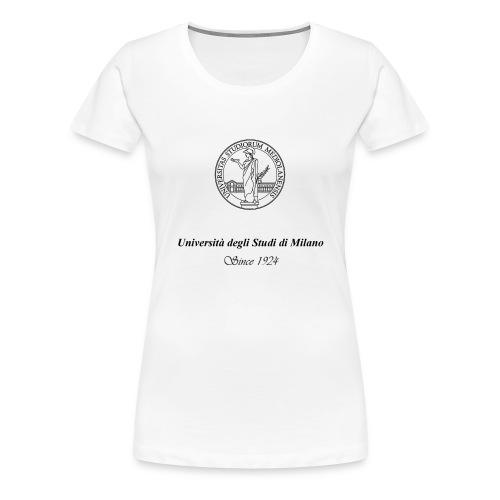 Maglietta Universita' degli Studi di Milano, bianca - Maglietta Premium da donna