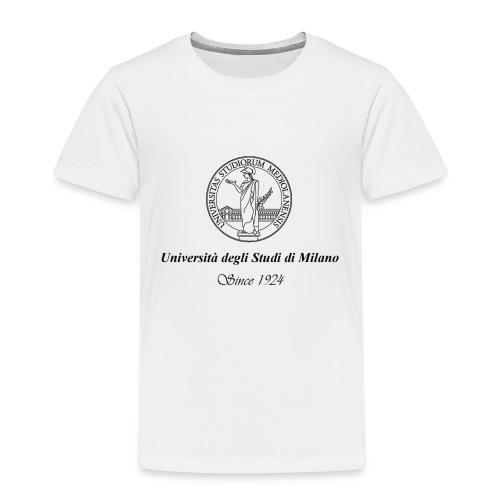 Maglietta Universita' degli Studi di Milano, bianca - Maglietta Premium per bambini
