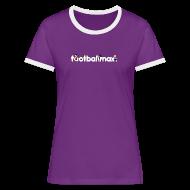 T-Shirts ~ Women's Ringer T-Shirt ~ Footballmax Lady Violet
