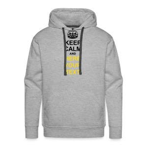 Custom KEEP CALM Limited Edition - Men's Premium Hoodie