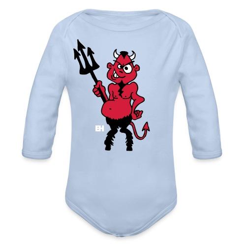 Fat red devil - Organic Longsleeve Baby Bodysuit