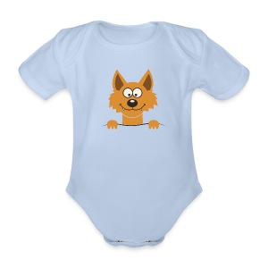 Funny cute Fox Paidat - Baby Bio-Kurzarm-Body