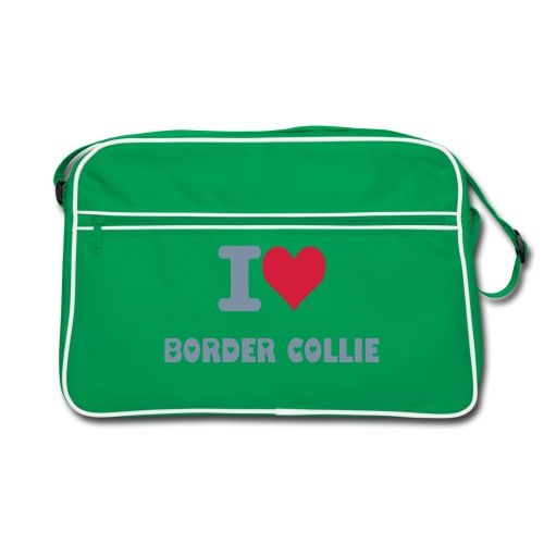 Toalettmappe I Love Border Collie - Retro veske