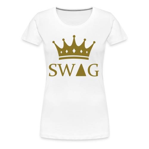 KoninginSwag (Vrouw) - Vrouwen Premium T-shirt