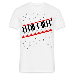 Beat It - Piano Shirt (Basic Herren) - Männer T-Shirt