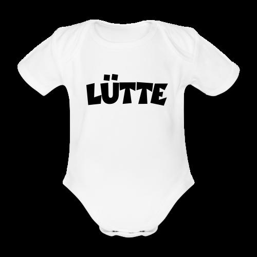 Lütte Babybody (Weiß) - Baby Bio-Kurzarm-Body