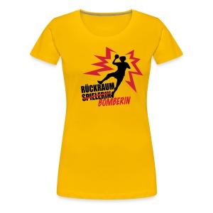 Rückraumbomberin rot schwarz - Frauen Premium T-Shirt
