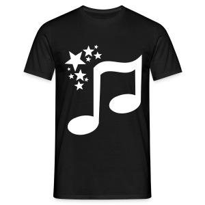 toam logo (white) Flock Print - Men's T-Shirt