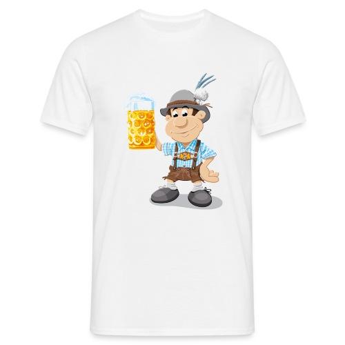 Herren T-Shirt Oktoberfest Lederhosen Bier - Männer T-Shirt