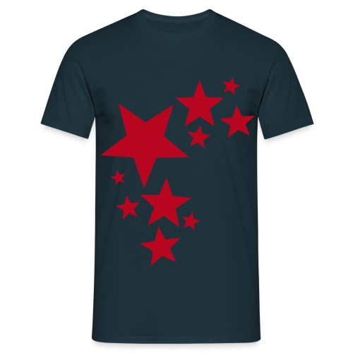 toam stars (red) Flock Print - Men's T-Shirt