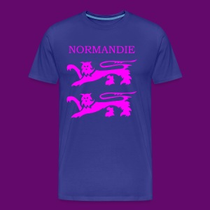 TEE SHIRT NORMANDIE LIONS ROSES - T-shirt Premium Homme
