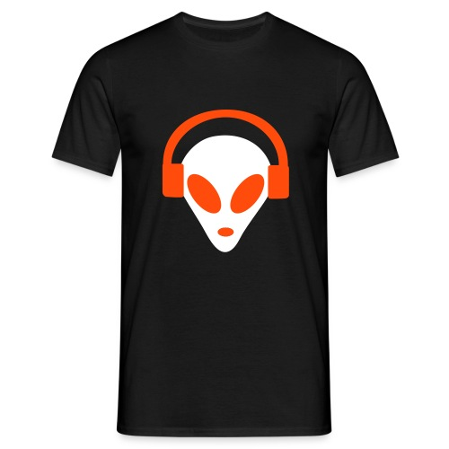 GLOW IN THE DARK RAVING ALIEN - Men's T-Shirt