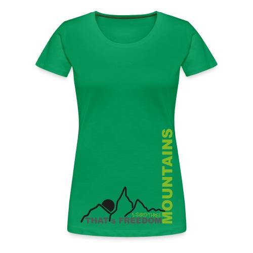S33 wmn Mountains - Frauen Premium T-Shirt