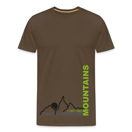 S33 men Mountains - Männer Premium T-Shirt