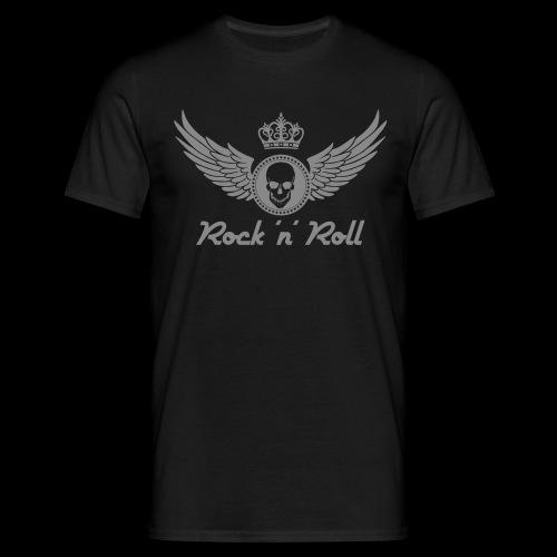 Rock 'n' Roll - silber - Männer T-Shirt
