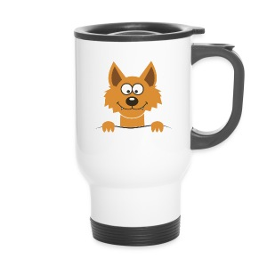 Funny cute Fox Pullot & mukit - Thermobecher