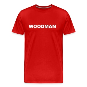 WOODMAN, T-Shirt, white text - Men's Premium T-Shirt