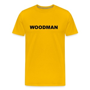 WOODMAN, T-Shirt, black text - Men's Premium T-Shirt