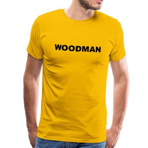 WOODMAN, T-Shirt, black text - Men's Premium T-Shirt