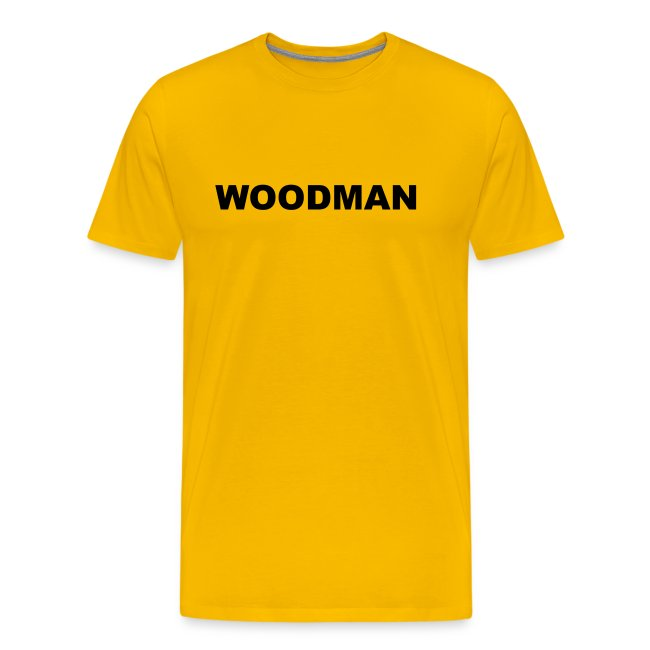 WOODMAN, T-Shirt, black text