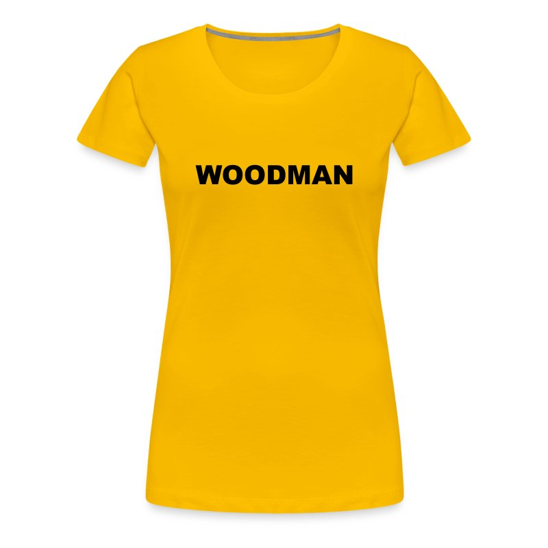 WOODMAN, Women's T-Shirt, black text - Women's Premium T-Shirt