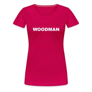 WOODMAN, Women's T-Shirt, white text - Women's Premium T-Shirt