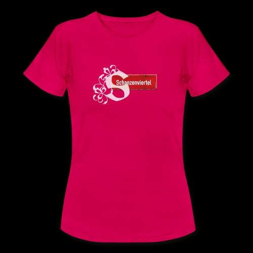 Hamburg:St. Pauli rotes Ortsschild mit Tattoo-S - Frauen T-Shirt