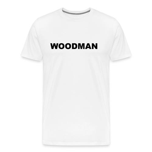 WOODMAN + Spider V2, T-Shirt, black text, F/B - Men's Premium T-Shirt