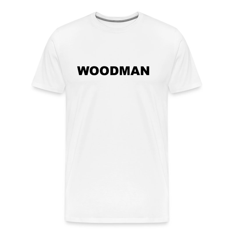 WOODMAN + Spider V2, T-Shirt, black text, F/B - Men's Premium T-Shirt