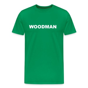 WOODMAN + Spider V2, T-Shirt, white text, F/B - Men's Premium T-Shirt