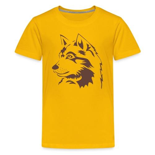 tiershirt t-shirt tier wolf wolves wild rudel pack alphatier alphawolf leitwolf howling - Teenager Premium T-Shirt