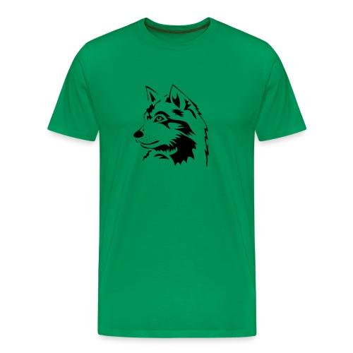 tiershirt t-shirt tier wolf wolves wild rudel pack alphatier alphawolf leitwolf howling - Männer Premium T-Shirt