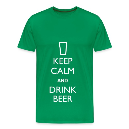 Keep Calm Drink Beer - T Any Colour - Men's Premium T-Shirt