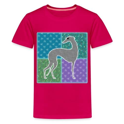 Lévriers stylisés. Patchwork - T-shirt Premium Ado