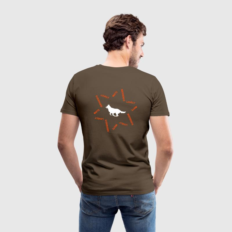 White Swiss Shepherd Dog cb2 - Men's Premium T-Shirt
