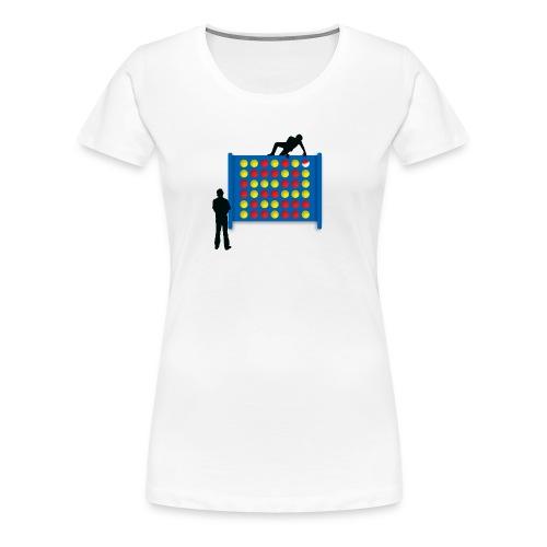 Connected - White - Women's Premium T-Shirt