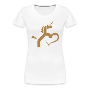 Einhorn mit Herz T-Shirts - Frauen Premium T-Shirt