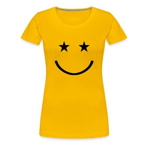 Happy stars (Amarilla - Mujer) - Camiseta premium mujer