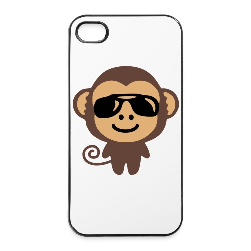 Coque iPhone 4/4S : Swaggy Monkey - Coque rigide iPhone 4/4s