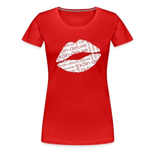 einfarbiges Köln Deluxe Lippen Motiv - Frauen Premium T-Shirt
