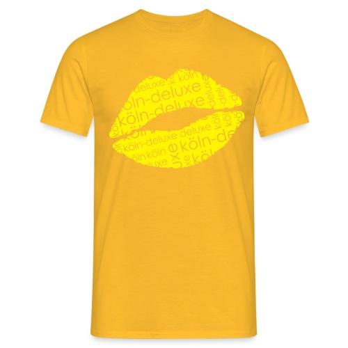 einfarbiges Köln Deluxe Lippen Motiv - Männer T-Shirt