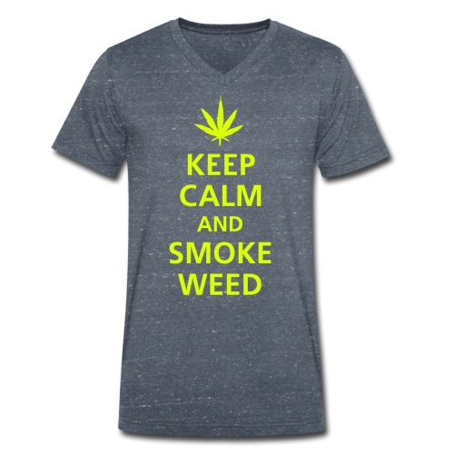 T-shirt Keep Calm and smoke weed - T-shirt bio col V Stanley & Stella Homme