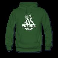 Hoodies & Sweatshirts ~ Men's Premium Hoodie ~ Cherub Campus Green Men's Hoodie