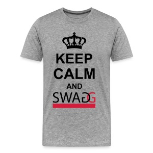 Keep calm and swag - Mannen Premium T-shirt