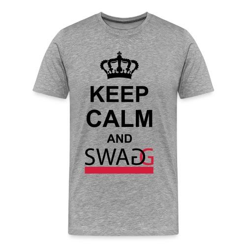 Keep calm and swag - Mannen Premium T-shirt
