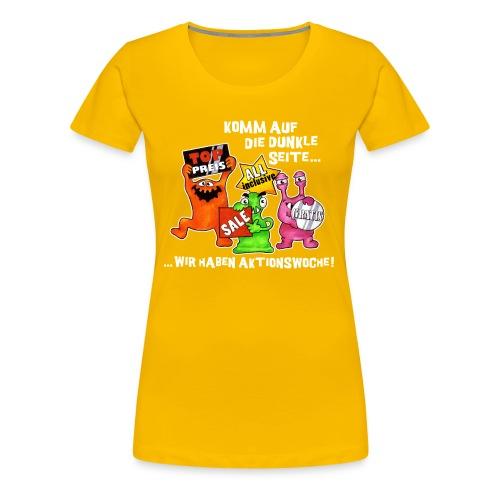 Tshirt komm auf die dunkle seite  - Frauen Premium T-Shirt